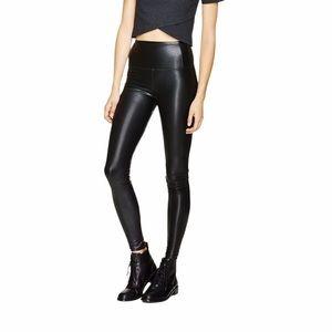 Wilfred Free Daria faux leather black leggings